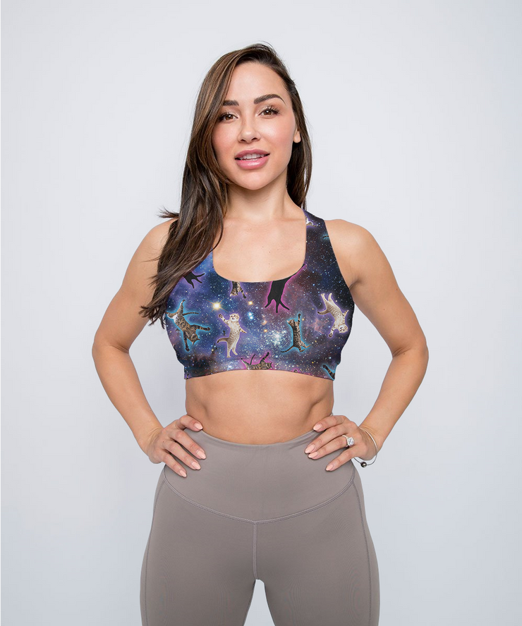 Galaxy Cat Sports Bra