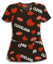 Cleveland Football Lovers Scrub Top