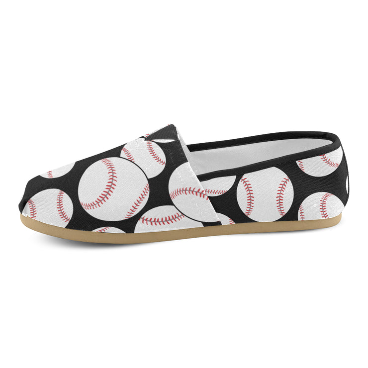 Baseballs All Over These Women's Canvas Shoes