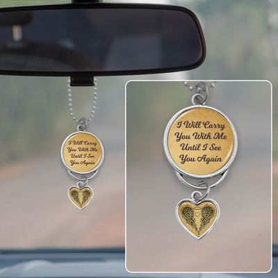 Carry You With Me Rearview Mirror Charm