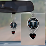 Born To Be A Nurse Rearview Mirror Charm