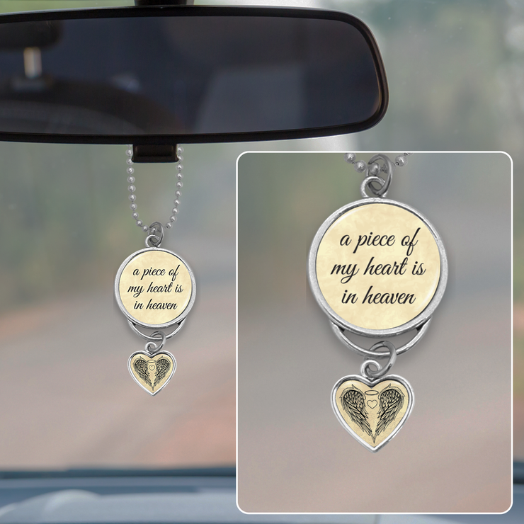 Piece Of My Heart Rearview Mirror Charm