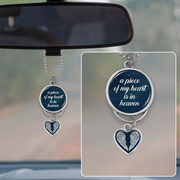 Piece Of My Heart Night Sky Rearview Mirror Charm