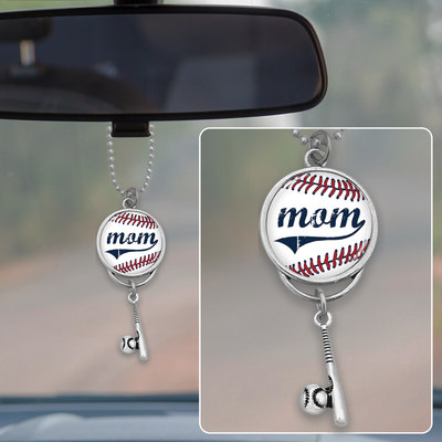 Baseball Mom Rearview Mirror Charm