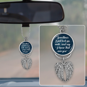 Know That Was You Night Sky Angel Wings Rearview Mirror Charm