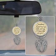 Know That Was You Angel Wings Rearview Mirror Charm