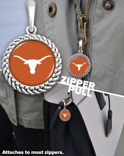 Texas Longhorns Easy-O Zipper Pull Charm