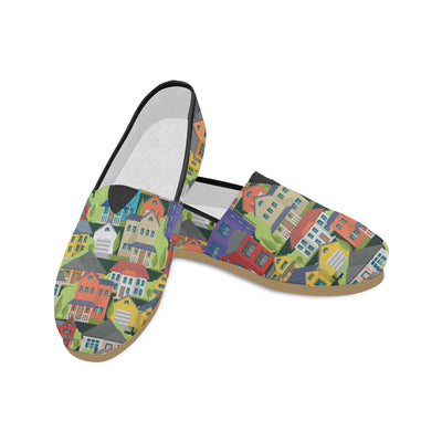 Real Estate Houses Women's Canvas Shoes