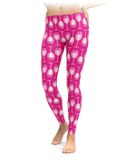 Rose Wine Glass Leggings