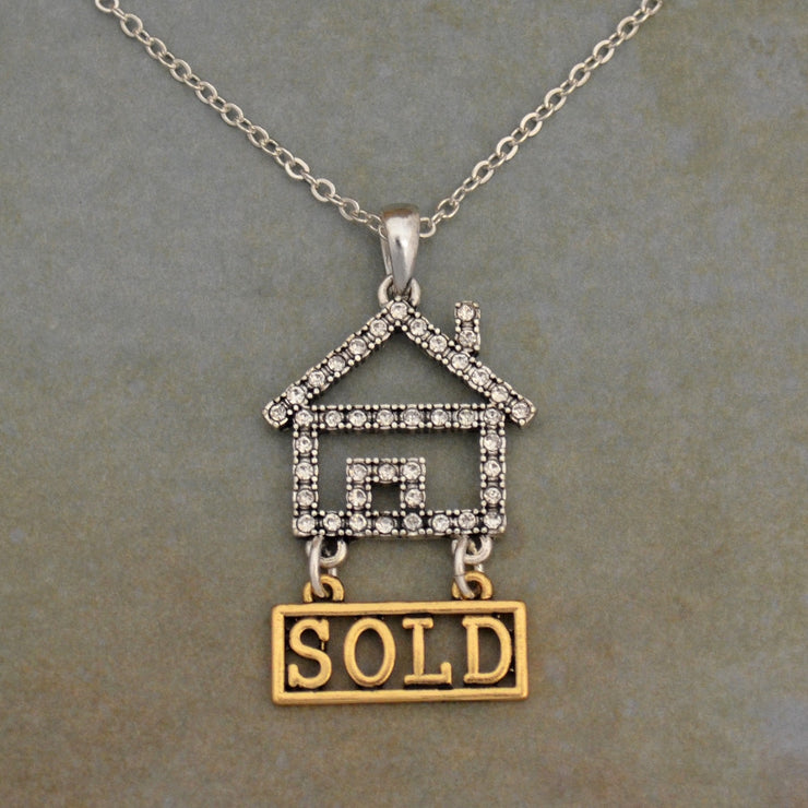 "Real Estate ""Sold House"" Necklace"