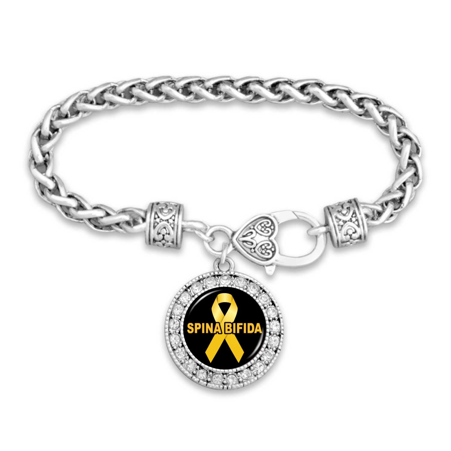 bracelet spina adenosarcoma awareness survivor by yellow eye liver cancer endometriosis bifida charm white pin lotus hamsa bladder osteosarcoma ribbon elephant lung gift