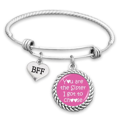 You Are The Sister I Got To Choose BFF Charm Bracelet