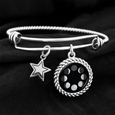Phases Of The Moon Charm Bracelet