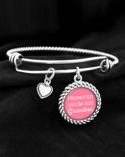 Promoted To Grandma Charm Bracelet