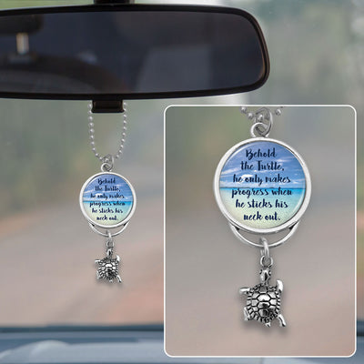 Behold The Turtle Rearview Mirror Charm