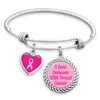 I Love Someone With Breast Cancer Charm Bracelet