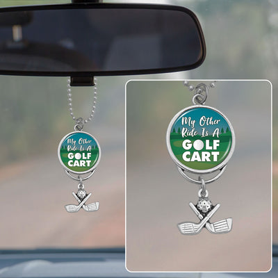 My Other Ride Is A Golf Cart Rearview Mirror Charm