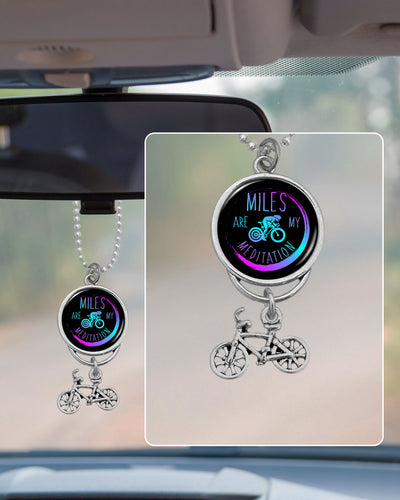 Miles Are My Meditation Rearview Mirror Charm