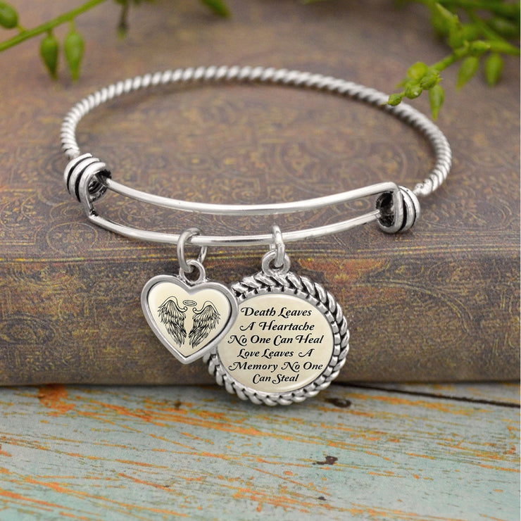 Love Leaves A Memory No One Can Steal Charm Bracelet