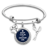 Keep Calm And Groom On Charm Bracelet
