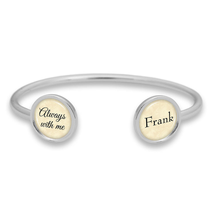 Customizable Always With Me Duo Cuff Bracelet