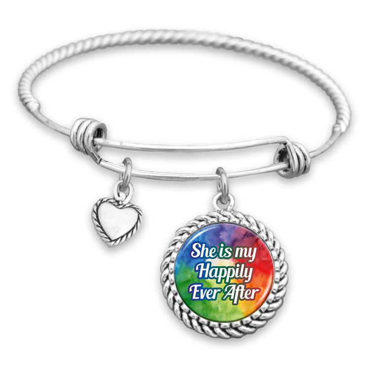 She Is My Happily Ever After Charm Bracelet