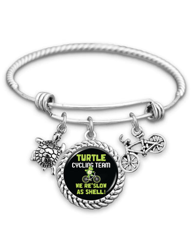 Turtle Cycling Team Charm Bracelet