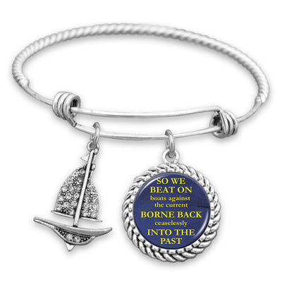 So We Beat On, Boats Against The Current Charm Bracelet