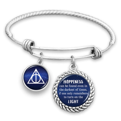 Happiness Can Be Found Even In The Darkest Of Times Charm Bracelet
