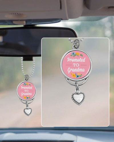 Promoted To Grandma Rearview Mirror Charm
