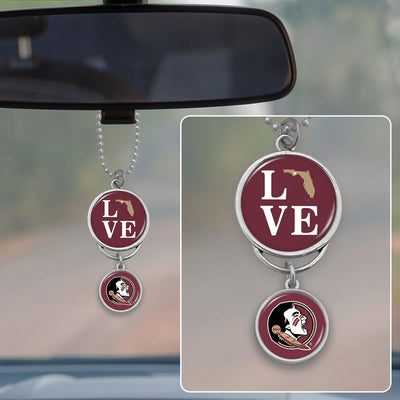 Florida State Seminoles Love Rearview Mirror Charm
