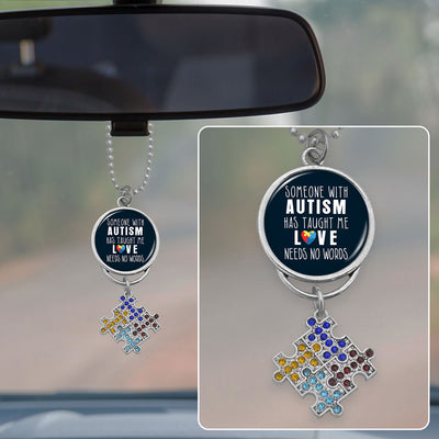 Someone With Autism Has Taught Me That Love Needs No Words Rearview Mirror Charm