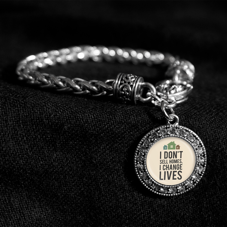 I Don't Sell Homes, I Change Lives Silver Braided Clasp Bracelet