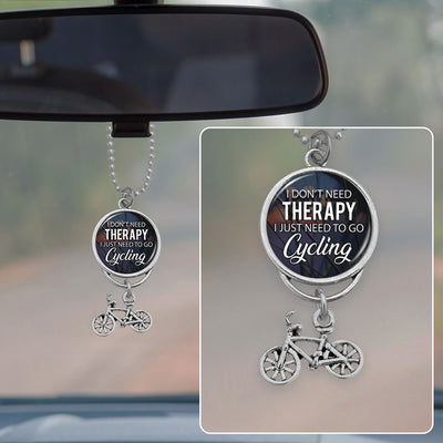 I Don't Need Therapy, I Just Need To Go Cycling Rearview Mirror Charm
