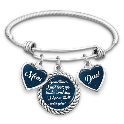 Know That Was You Night Sky Mom & Dad Charm Bracelet