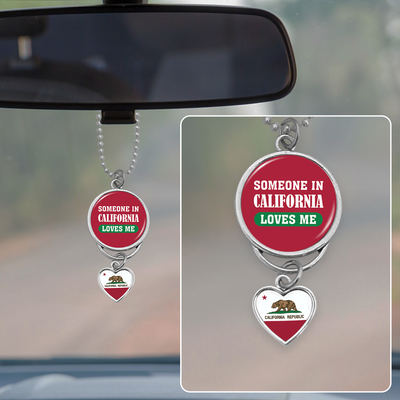 Someone In California Loves Me Rearview Mirror Charm