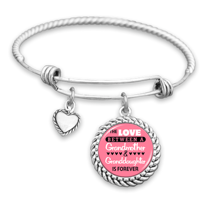 The Love Between A Grandmother & Granddaughter Is Forever Charm Bracelet