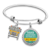Never Underestimate The Power Of A Bus Driver Charm Bracelet