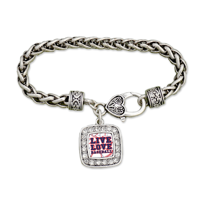 Chicago Live Love Baseball Clamp Bracelet