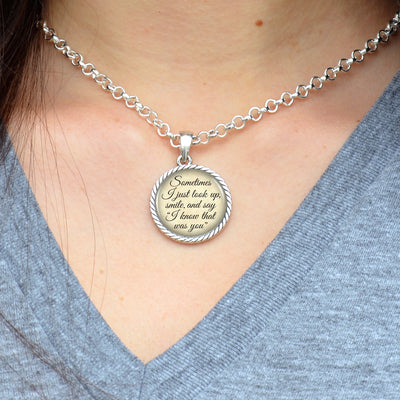 """I Know That Was You"" Round Twisted Rope Necklace"