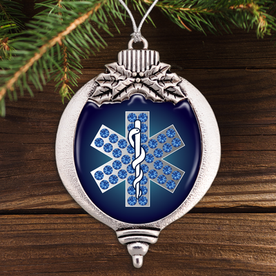 EMT Star Of Life Bulb Ornament