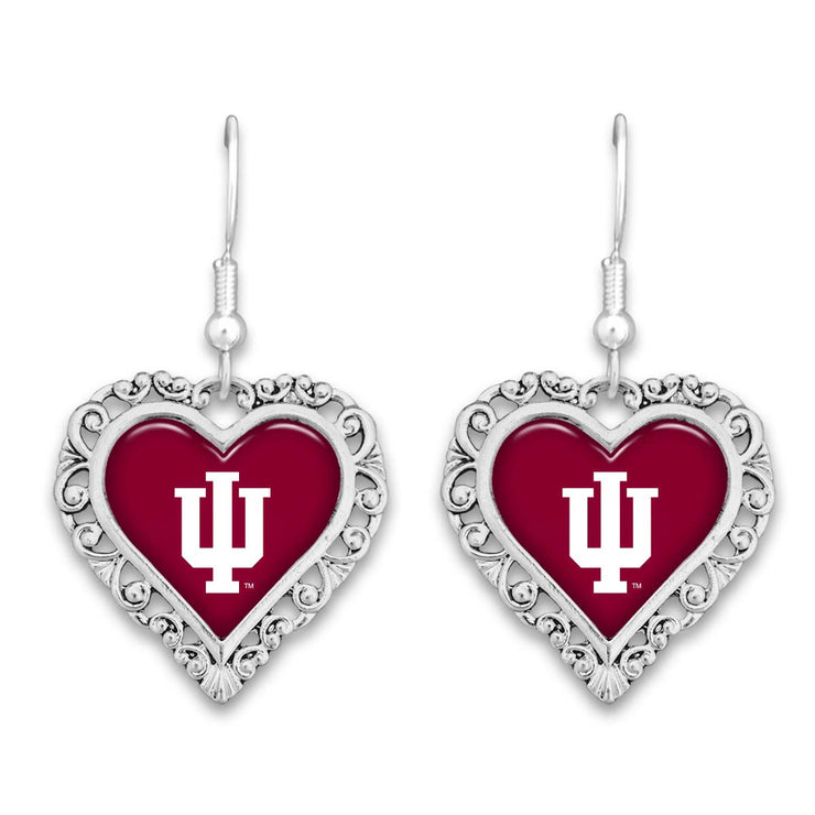 Indiana Hoosiers Official Lace Trim Earrings