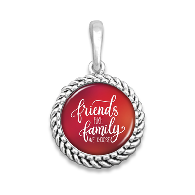 Friends Are The Family We Choose Easy-O Zipper Pull Charm