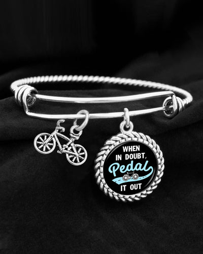 When In Doubt, Pedal It Out Charm Bracelet