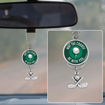 May The Course Be With You Rearview Mirror Charm