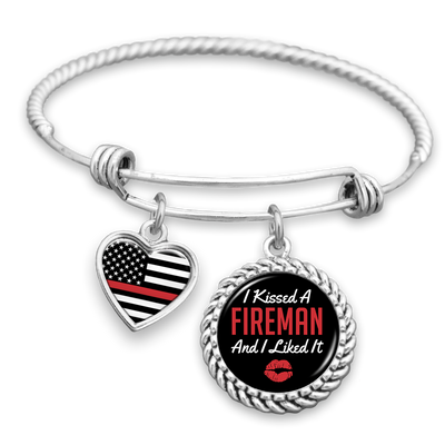 I Kissed A Fireman And I Liked It Charm Bracelet