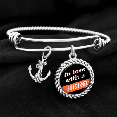 In Love With A Hero Coastie Charm Bracelet