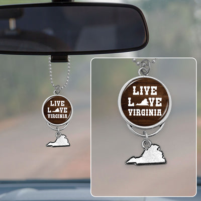 Live Love Virginia Rearview Mirror Charm