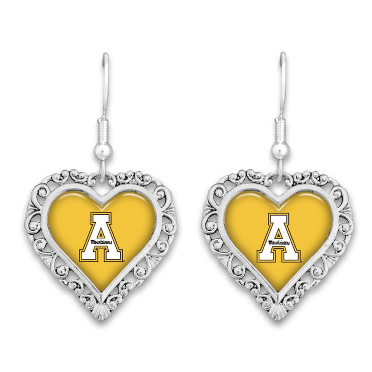 Appalachian State Mountaineers Official Lace Trim Earrings