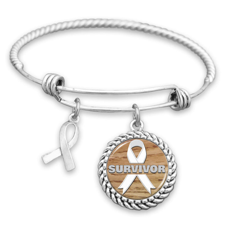 Survivor Lung Cancer Charm Bracelet